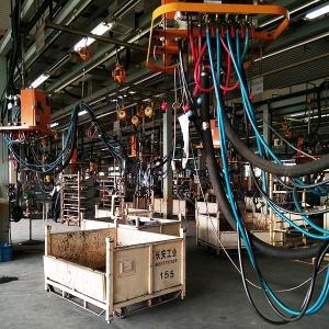 柳州市华鹏机电焊接产品焊接电缆在长安生产线上